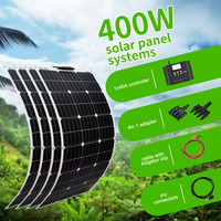 Boguang 100W Solar Panel 200W 300W 400W Kit Panneau Solaire Flexible Cell For 12V 24V Battery Car RV Home Outdoor Power Charging