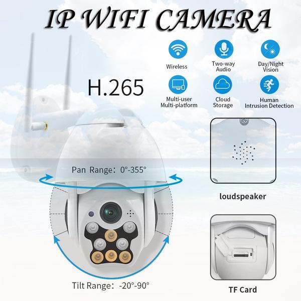 Outdoor 1080P Waterproof Wireless Wi-fi Ip Camera Security Protection Camera Surveillance Cameras Night Vision Wifi ZTP Camera