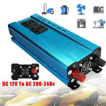 Car Solar Power Inverter 2500W DC 12/ 24V to AC 220V 4 USB Interfaces Converter Modified Sine Wave Car Voltage Car Inverter