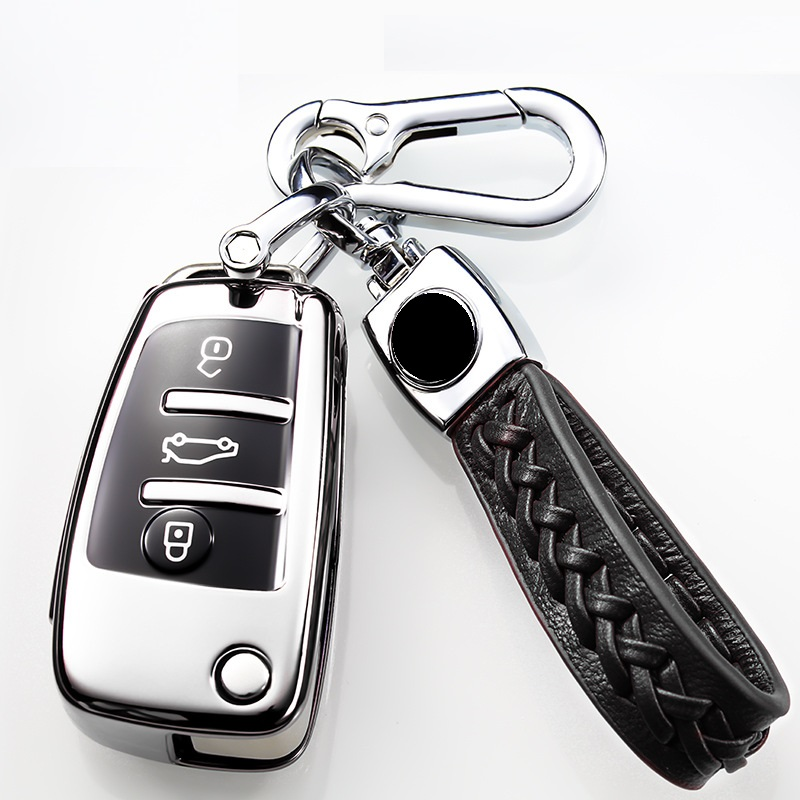 Soft Tpu Car <font><b>Remote</b></font> <font><b>Key</b></font> Fob Cover Case For <font><b>Audi</b></font> A3 8L 8P A4 B6 B7 B8 <font><b>A6</b></font> <font><b>C5</b></font> C6 4F RS3 Q3 Q7 TT flip <font><b>key</b></font> image