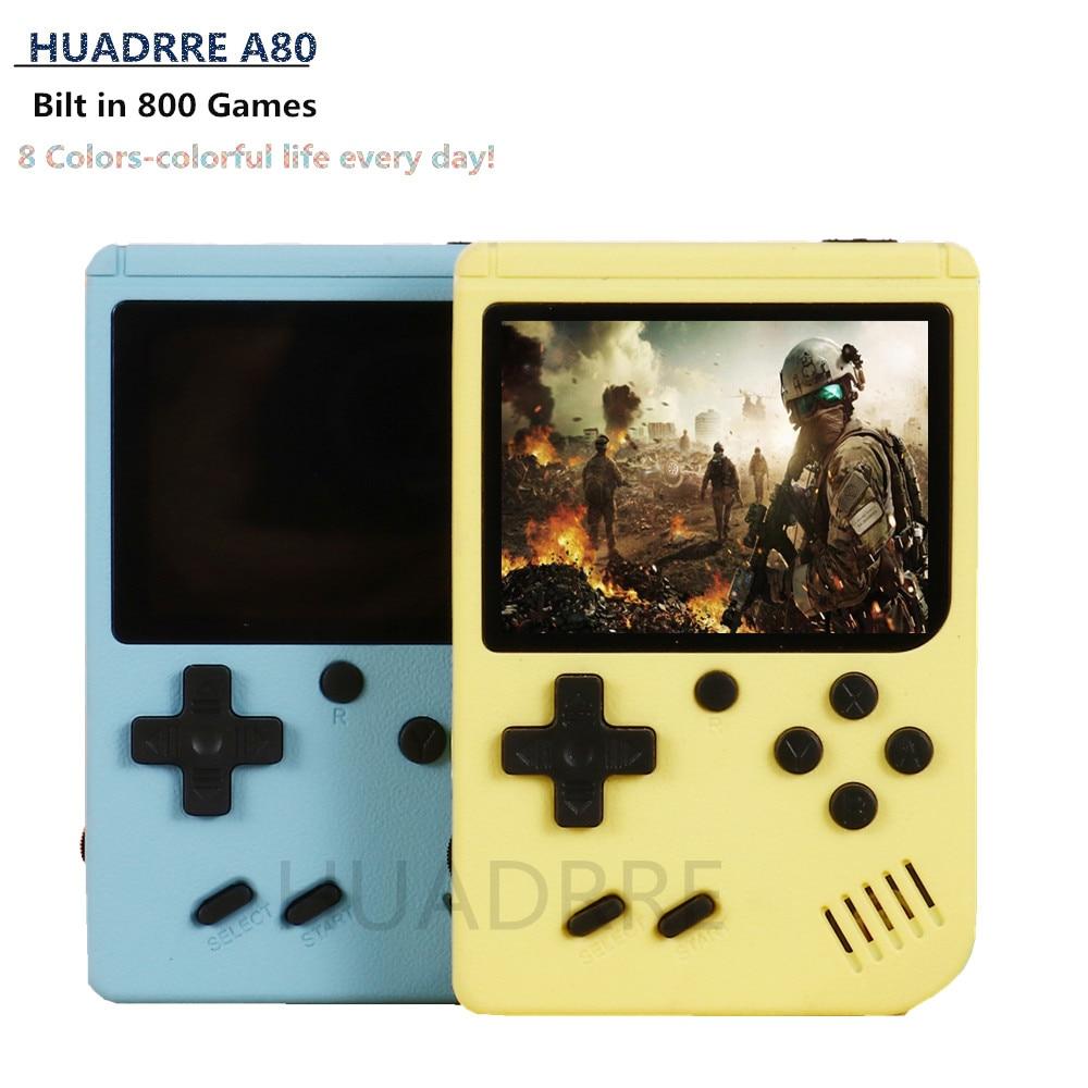 Mini-lecteur Portable de 3.0 pouces avec 800 jeux intégrés, Console de jeu classique Macaron 5 couleurs, pour cadeaux