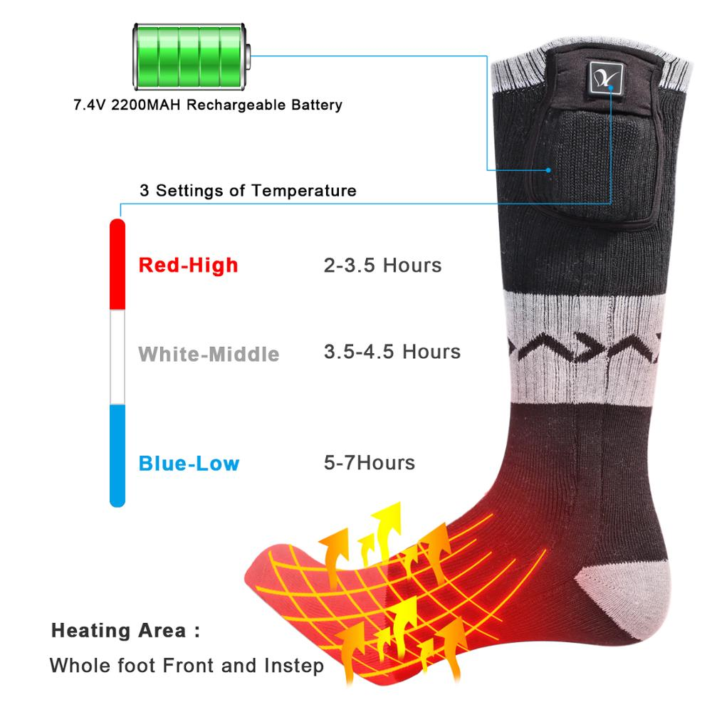 Day Wolf Heating Socks Battery Heating Ski Riding Warm And Antifreeze Feet Are Available For Both Men And Women