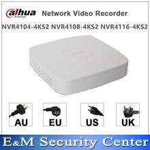 Original dahua english version mini  NVR 4/8CH 1U  Network Video Recorder NVR4104 4KS2 NVR4108 4KS2 NVR4116 4KS2 mini NVR