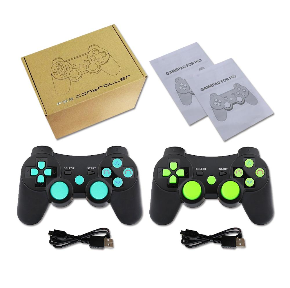 Купить с кэшбэком K ISHAKO Wireless Bluetooth For PS3 Joystick game Controller For sony play station 3 Feature with Six Axis Shock black skull