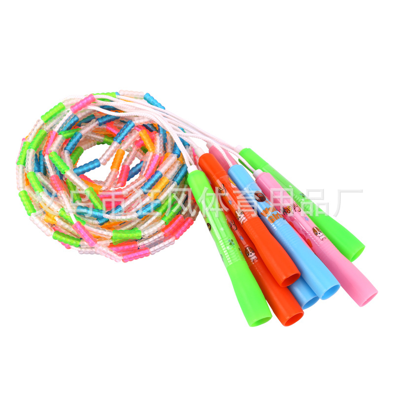 Profession Bamboo Joint Jump Rope Students The Academic Test For The Junior High School Students Fancy Jump Rope Beads Soft Bead