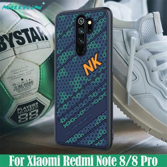 Capa para xiaomi redmi Note 8 pro caso nillkin striker caso 3d textura tpu silicone suavidade capa traseira para xiaomi redmi note8