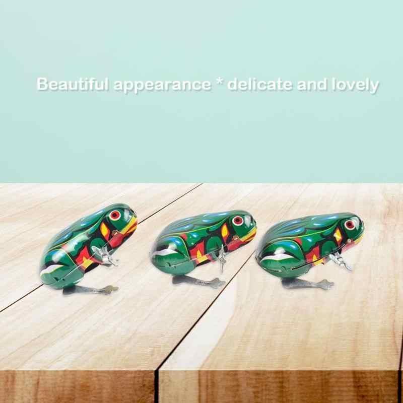 Springen Frosch Modell Clockwork Zinn Spielzeug Klassische Sammeln Nostalgie Delicate Schöne Kinder Bildung Spielzeug für Sammeln