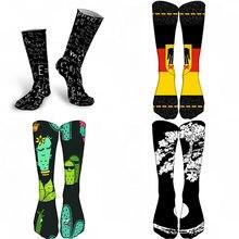 Meias de skate moda colorido meias harajuku engraçado estilo rua meias novidade criativo hip hop unisex bonito calcetines