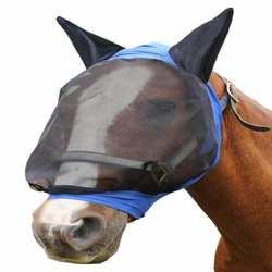 Защита от ультрафиолета для лица Защита от комаров защита для лошадей товары для домашних животных защитная маска для верховой езды синяя