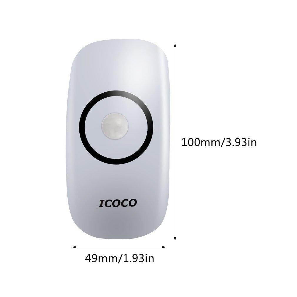 ICOCO Durable 18Pcs LED Long Life Weather Resistant Light Sensor Auto Shut-off Security Night Light LED Motion Sensor Light