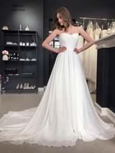 Шифоновое свадебное платье в стиле бохо простые недорогие свадебные