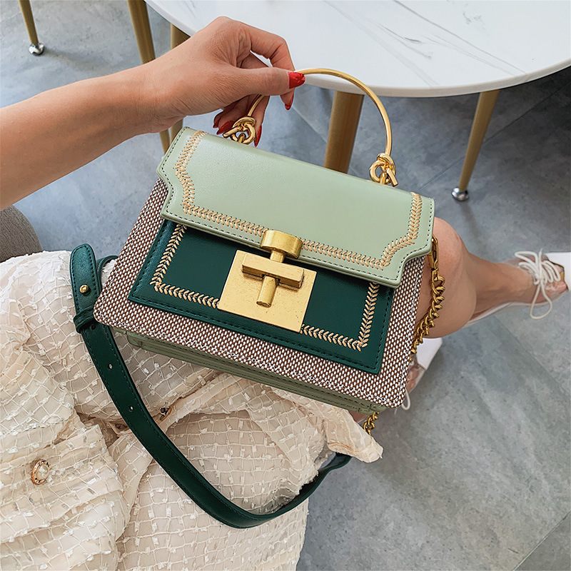 2020 New Fashion Pathwork PU Leather Women Crossbody Bags Vintage Shoulder Messenger Bag Ladies Clutch Casual Totes Female Purse