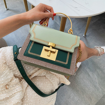 2020 New Fashion Pathwork PU Leather Women Crossbody Bags Vintage Shoulder Messenger Bag Ladies Clutch Casual Totes Female Purse fashion mini chain handbag for women shoulder bag pu leather female crossbody bag little bag ladies messenger bags women s totes