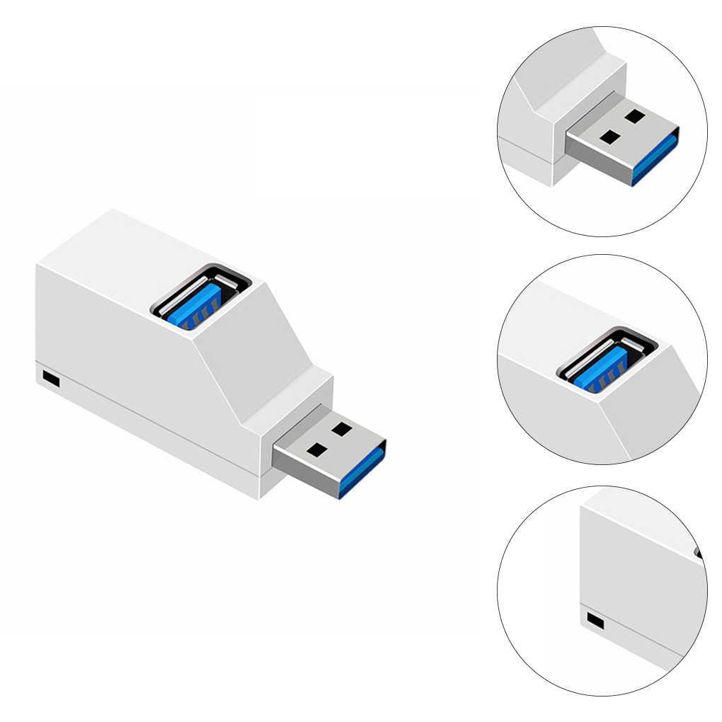 Tout nouveau universel Mini 3 Ports USB 2.0/3.0 Hub ordinateur portable PC haute vitesse Transmission de données USB séparateur adaptateur