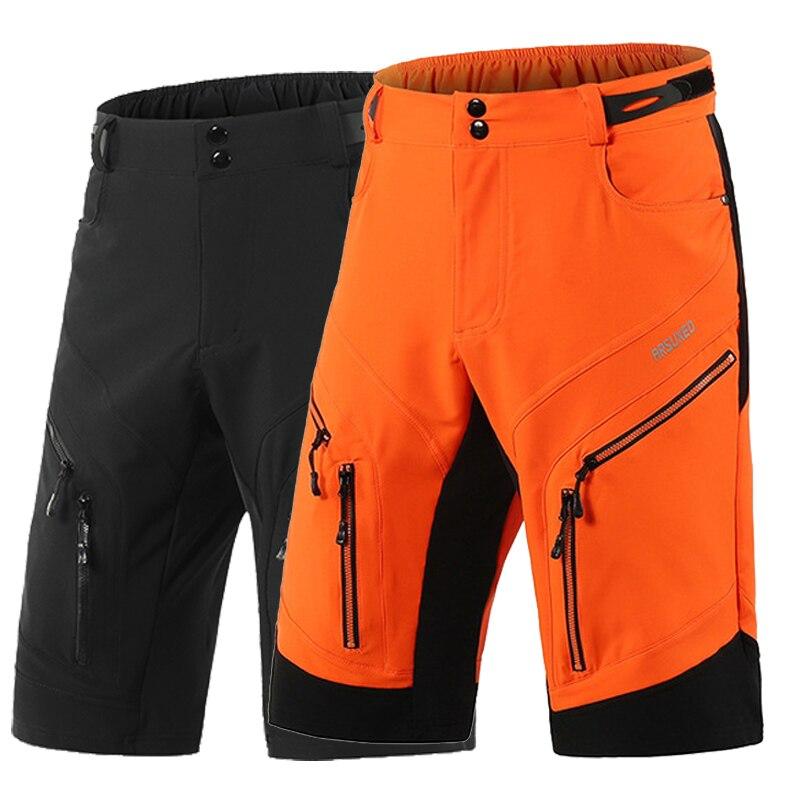 Мужские шорты ARSUXEO DH, свободные спортивные шорты для езды на велосипеде, MTB, горный велосипед