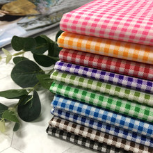 100cm x 150cm grade impressa xadrez xadrez tartan tecido de poliéster pano para artesanal diy alta qualidade material de pano crianças
