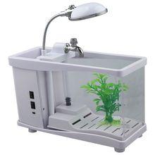 USB мобильный мини электронный настольный аквариум белый