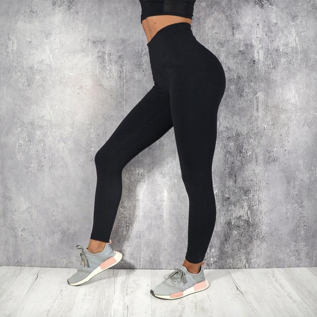 Women High Waist Push Up Elastic Gym Legging