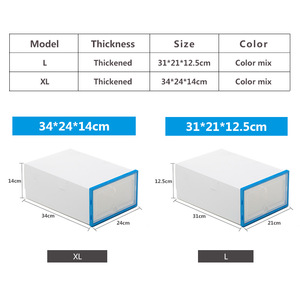 Image 2 - 6Pc Stackableสไตล์เรียบง่ายล้างรองเท้าพลาสติกกล่องจัดเก็บกล่องOrganizerลิ้นชัก