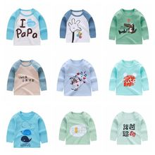 Tee-Shirt Long-Sleeve Toddler Tops Baby-Girls-Boys Cotton And Spring Round-Neck Autumn