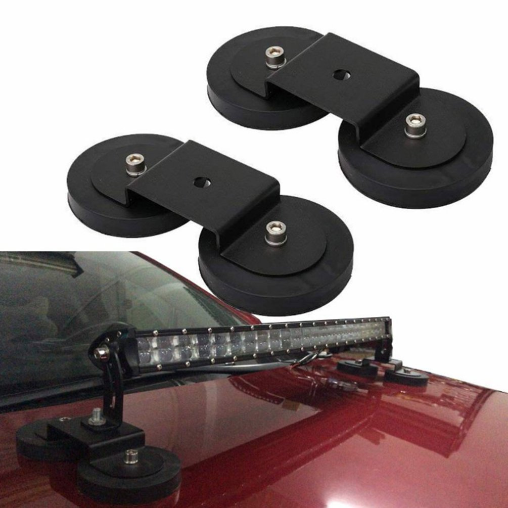 88MM Magnet Car Truck Light Mounts Bracket Led Light Bar Roof Sucker Stand Base For Off Road Head Spot Light
