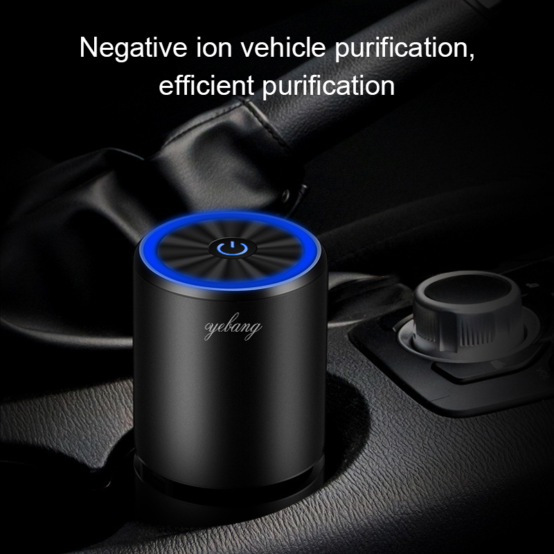 MWdao car air purifier vehicle air ionizer freshcleaner negative ion ozone ozonizer odor eliminator usb for car
