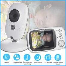 Nieuwe VB603 3.2 Inch Lcd Babyfoon Nanny Temperatuur Monitoring Lullaby 2 Weg Audio Ir Nachtzicht Beveiliging Temperatuur Camera