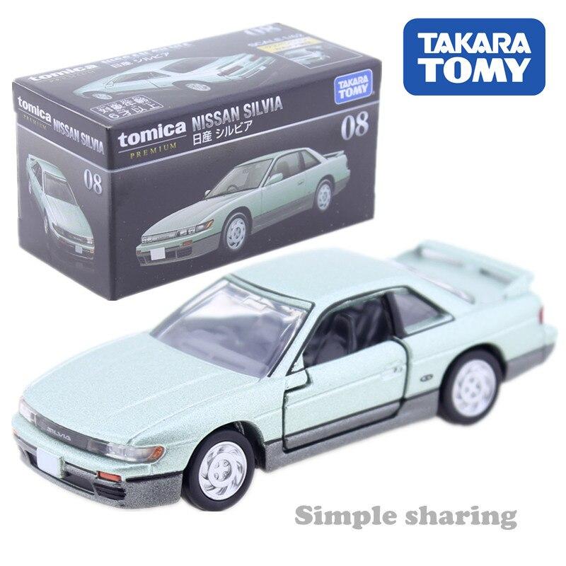 Tomica Premium #08 Nissan Silvia In Light Green Metallic 1/62 Takara Tomy Metal Cast Toy Car Model Vehicle Toys For Children New