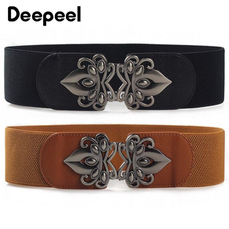 Deepeel 1pc High-quality Elastic Cummerbunds Dress Wide Belts For Women Elastic Band Stretch Belt Wild Coat Decoration CB039