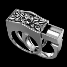 цена на Ring 925 Skull Punk style set ring personality domineering ring for men ring men rings for men skull ring
