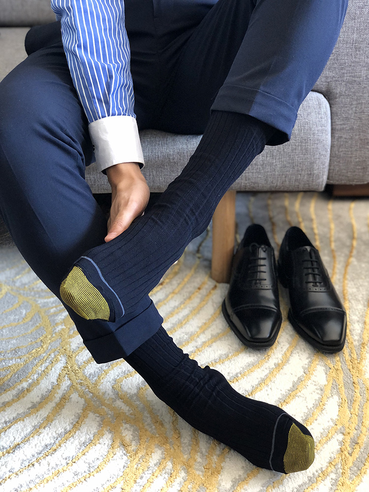 Men's Socks Male Formal Dress Black Socks Men's Business Socks Sexy Gentleman Suit Dress Socks Breathable Men's Cotton Socks