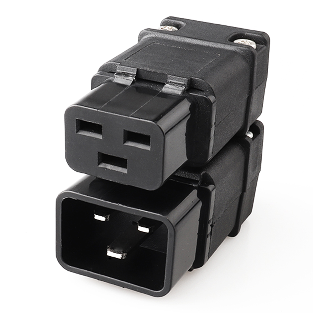LZ-20-T1/T2 Hot Selling 16A 250V Black IEC C19 C20 Male Plug Rewireable DIY Power 3-pin Socket