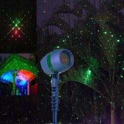 Natal ao ar livre laser céu estrela projetor laser luz à prova dwaterproof água ao ar livre jardim chuveiro paisagem spotlight para decoração do gramado parque