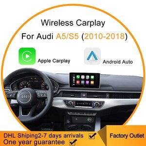 Bezprzewodowy Apple Carplay Android Auto dla Audi Carplay A5/S5 automatyczne podłączenie wsparcie Sir mapa muzyka HMDI bezprzewodowe Mirrorlink Airplay