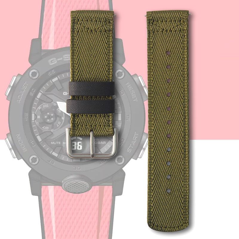 24mm Outdoor Sports Nylon  Watch Strap Wristband For Casio PRG-600YB/PRG-650/GA-2000 Smart Watch Band Watchbands
