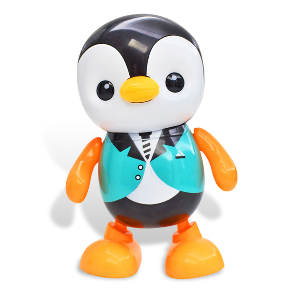 Lovely Dancing Penguin Electric Toy Portable Home Cute Singing Colorful Funny Plastic Round Edge Kids Gift 12.5 X 10 X 19 Cm