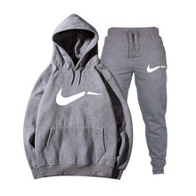 Winter Autumn Men Hoodie sweatshirt jacket+ joggers sweatpants man pri