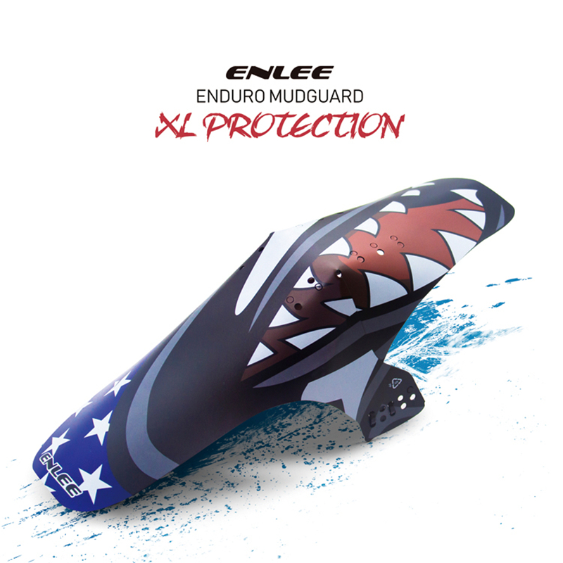 ENLEE MTB Bicycle Front Mudguard AM DH Enduro Cycling Bike Collapsible Fenders Bicycle Accessories