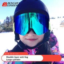 High Experience męskie gogle narciarskie okulary narciarskie dla kobiet gogle snowboardowe mężczyźni Big Snow Mask narciarstwo szklane okulary snowboardowe