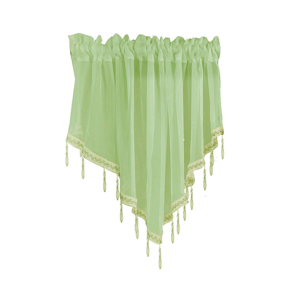Triangle screen nordic simple curtain white sand proof screen balcony living room bedroom window partition screen curtain