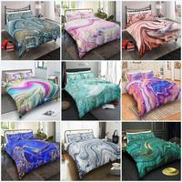 Marble Duvet Cover Set for Kids Girls Abstract Texture Glitter Bedroom Decor Girly Cute Bedding Sets Women Modern Quilt Cover