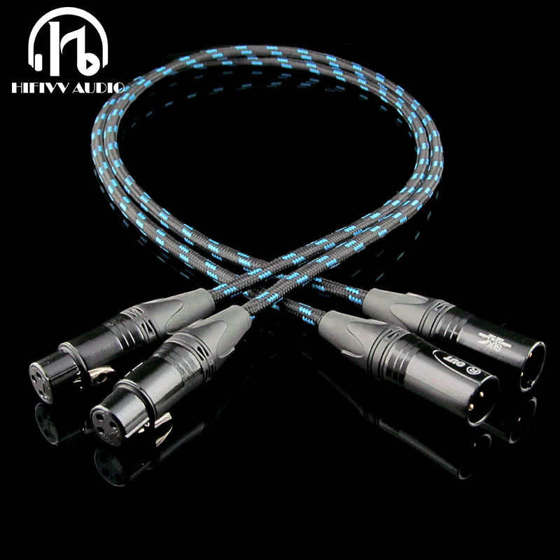 hi end 6N OCC plated silver male XLR conversion female XLR cable for amplifier    1