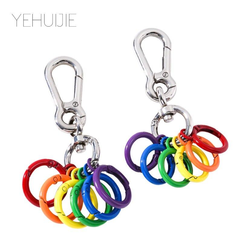 New Metal Keychain Hook Key Chain Car 1 Piece Zinc Alloy DIY Cute Style Luggage Car Key Ring Opening Ring Lesbian Gay Key Ring