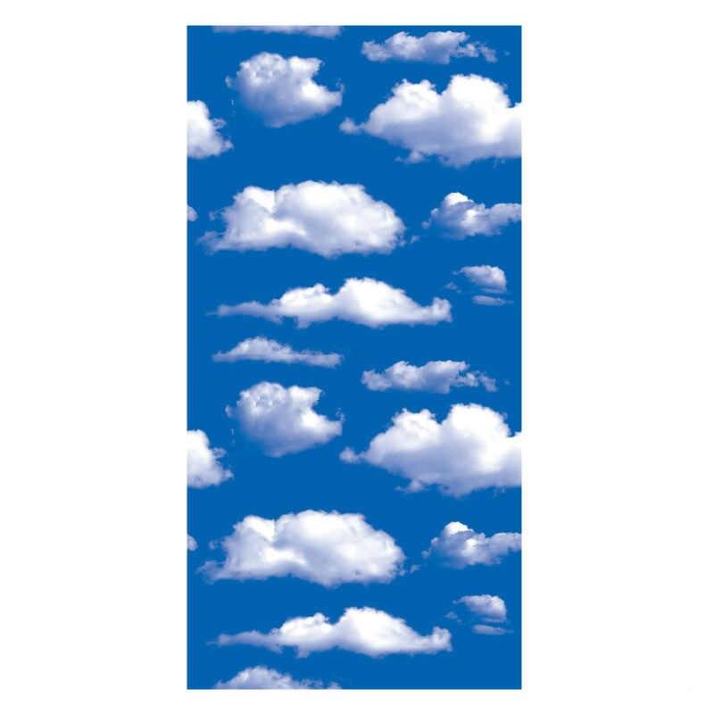 ثلاثية الأبعاد السماء الزرقاء الغيوم البيضاء خلفية لفة بولي كلوريد الفينيل ذاتية اللصق خلفيات لغرفة المعيشة غرفة نوم فندق جداريات السقف الديكور
