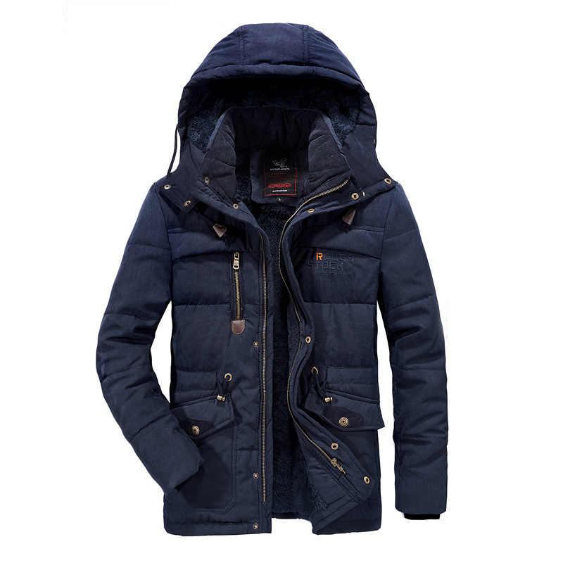 벨벳 겨울 파카 후드 2020 캐주얼 자켓 남성용 윈드 브레이커 따뜻한 패딩 오버 코트 플러스 아시아 사이즈 L-5XL 6XL 7XL 8XL 코트