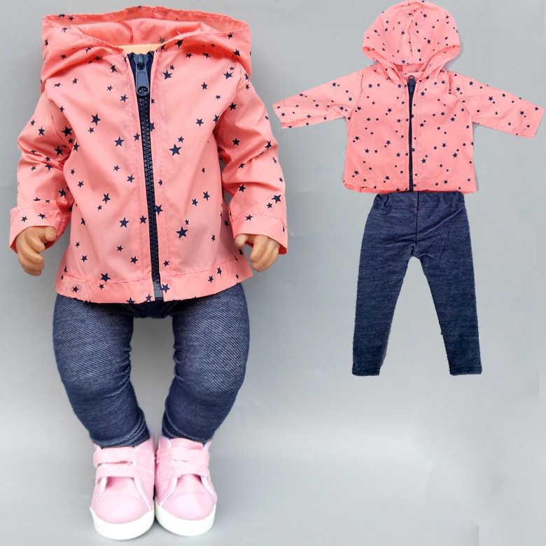43cm yeni doğan bebek oyuncak bebek giysileri yaz giyim 18 inç amerikan OG kız bebek ceket ceket