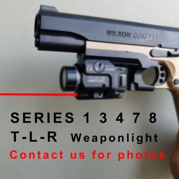 TLR Compact LED Weapon Light With Red Laser Sight For Pistol Hunting Glock 1 8 Laser Flashlight Fit Hk USP SIG CZ