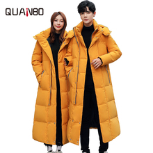 2019 New Men Wommen Lovers Winter Down Jacket High Quality Long Thick Warm