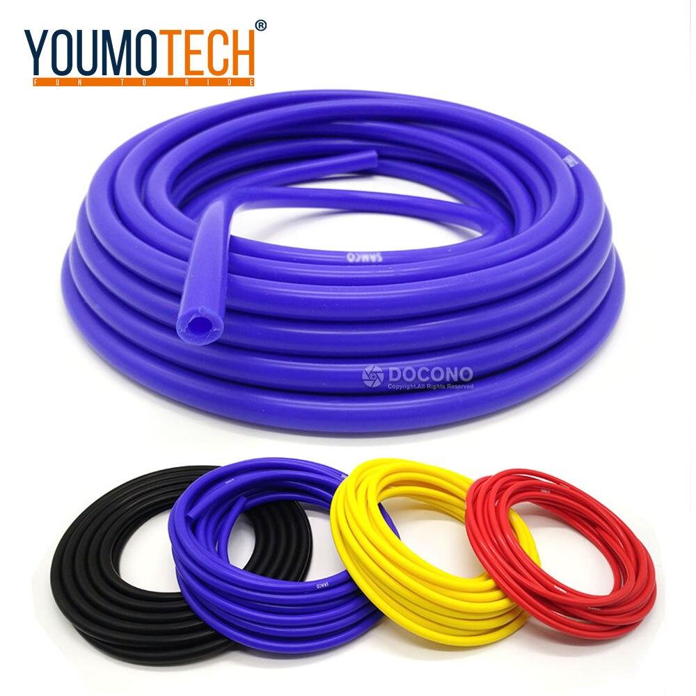 Evrensel 3mm/4mm/6mm/8mm silikon vakumlu tüp hortum silikon boru mavi siyah kırmızı sarı