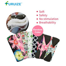 лучшая цена Menstrual Cloth Pads Reusable Bamboo Sanitary Cloth pads Health Care Women Cloth pad 7.5X25cm M size washable Sanitary Lady pads